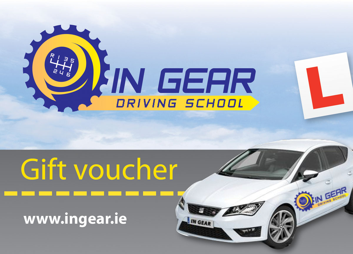 in gear driving lessons vouchers